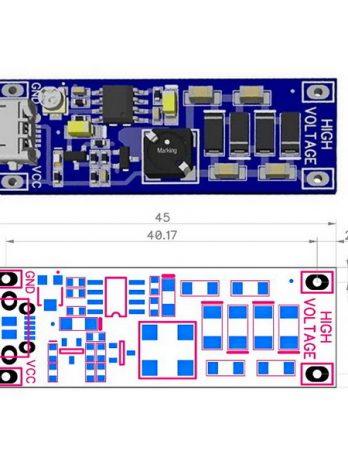 Високовольтний модуль DCDC_3V3_400V для дозиметрів радіації.