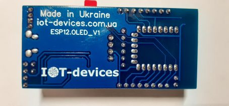 "Контролер IoT з графічним дисплеєм OLED 0,96"" на основі ESP8266-12F"