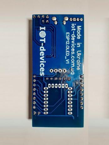 ESP12.OLED_V1. Комплект 3. Програматор ESP8266-12. Плата з можливістю безпаєчного встановлення та заміни модулів ESP8266-12E(F)