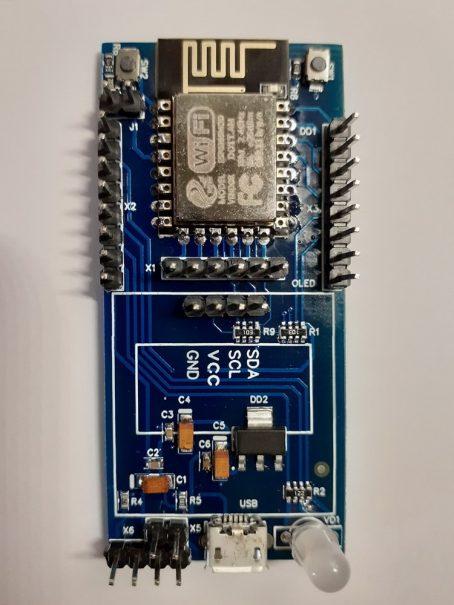 Контролер на основі ESP8266-12F без дисплея